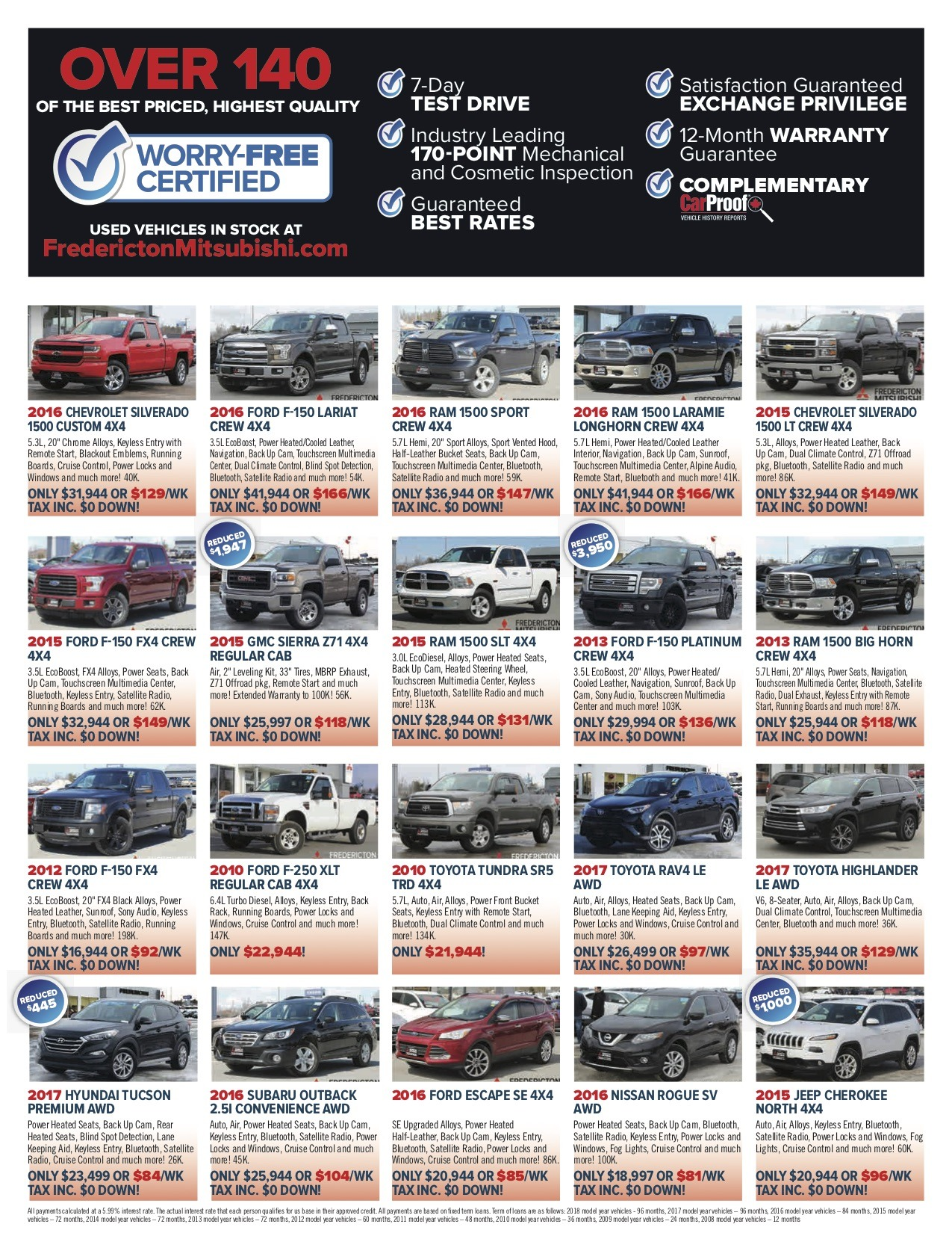 2 Used cars Fredicton Mitsubishi Flyer May18 - Fredericton Mitsubishi