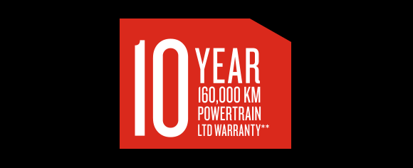 10 Year 160,000 km powertrain ltd warranty