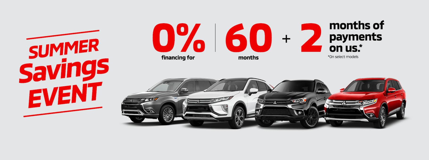 Mitsubishi Sales Event July 2019